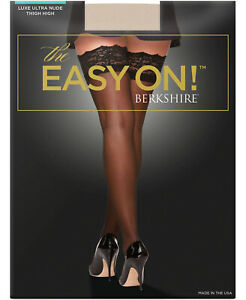 Berkshire The Easy On! Luxe Thigh Highs Nude Size XXL - NIP
