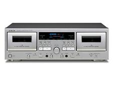 TEAC W-1200 Double Cassette Deck Player Silver Ac100v From Japan