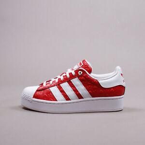 Adidas Originals Superstar Bold Scarlet Heart Valentine's Day Women New FZ1836