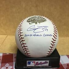 CHAD FOX MARLINS 2003 W.S. BALL  M.L. SIGNED BASEBALL W/COA