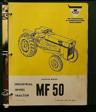1971 85 Massey Ferguson Mf 50 Industrial Wheel Tractor Parts Catalog Manual Nice