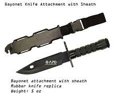 Bayonet Attachment Sheath AEG Rubber military  M4 M16 RIFLE Airsoft Knife bipod
