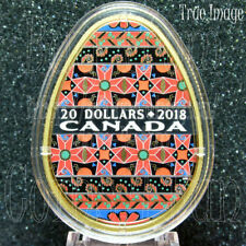 2018–Golden Spring Pysanka–Писанка–$20 Gold Plated Pure Silver Egg Shaped Coin