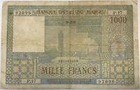 MAROC - 1000 FRANCS (10.12.1952) - Billet de banque (B)