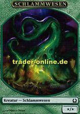 2x Spielstein Schlammwesen (Token Ooze) Return to Ravnica Magic