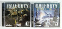 Call of Duty + United Offensice Expansion Pack PC 4CDROMS Bundle W/CDKeys 2 Case