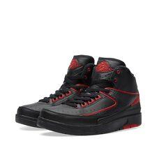 Nike Air Jordan Retro 2 II Alternate BG GS SZ 5Y Black Varsity Red 834276-001