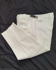 Liz Claiborne White Emma ankle Pants NWT Cute Womens Size 22W Cotton/Spandex