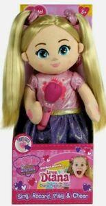 "Love Diana Plush Popstar 15"" Pocket Watch Doll Sing Record Play Rock Star NEW"