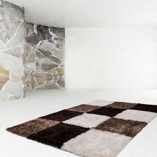 Karierte Aktuelles-Design Wohnraum-Teppiche im Hochflor/Shaggy/Flokati-Stil für Kinderzimmer