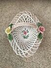 Woven Ceramic Basket from Italy