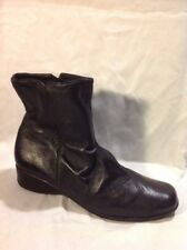Lilley&skinner Black Ankle Leather Boots Size 7