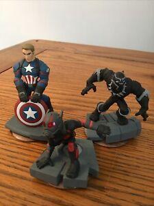 Disney Infinity 3.0, 3 Figure Bundle, Captain America, Ant Man & Black Panther