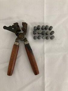 Vintage Lyman Bullet Mold 198 Single Cavity Mould .50 Cal W/ 15 Lead Bullets
