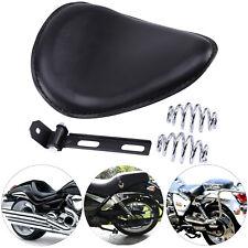 Motorcycle 3'' Spring Solo Bracket Seat For Harley Chopper Bobber Custom Black