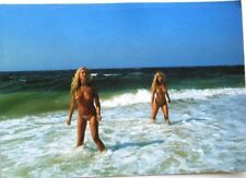 Nude Blondy Girls Sea  Nature  Risque postcard photo