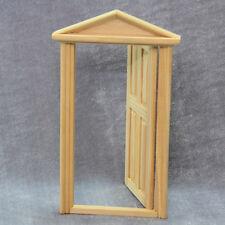 1× 1:12 Skala Puppenhaus Miniatur Klassische Möbel Hölzerne Tür Spielzeug
