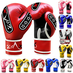 Junior kids Boxing Gloves Sparring Boxing Punch Bag MMA Gloves 4,6,8 OZ