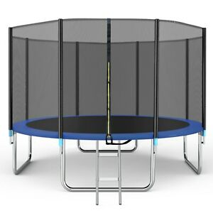 Trampoline 14ft with Safety Enclosure Net, Spring Pad and Ladder, 330LB Capacity