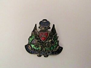 RARE VINTAGE 1936 PERTH ICE RINK CURLING CLUB SPORTS CURLING PIN