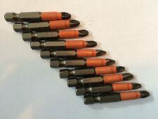 Power Drill Bits PZ2 10pcs Quality 50mm Fits Makita, Dewalt, AEG Impact Driver