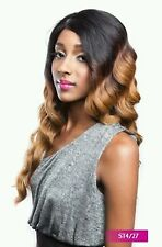 BS205 - ISIS Brown Sugar Human Hair Style Mix Soft Lace Wig LONG WAVY