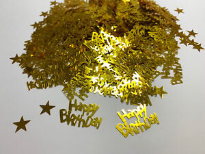 Happy Birthday Geburtstag Konfetti Gold Tisch Deko Streudeko - 15g-