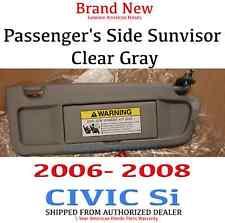 06-08 Honda Civic Si Genuine OEM Passenger's Clear Gray Sunvisor 83230-SNA-A01ZC