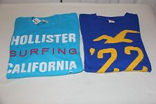 Hollister Dude's Graphic Long Sleeve Tees Size XL- Lot of 2 shirts-NWT