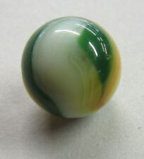 "Vintage Akro Popeye Marble Vaseline UV Green White Red Yellow 3/4"""