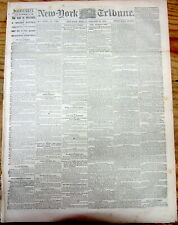 <1864 CIVIL WAR newspaper CONFEDERATE JEFFERSON DAVIS Speech on SHERMANS MARCH