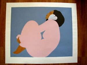 FABULOUS AUTHENTIC PEGGE HOPPER SERIGRAPH PRINT LADY IN PINK SIGNED & NUMBERED!!