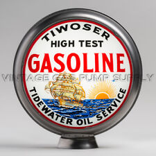 """Tiwoser Tidewater Oil Co. 15"""" Limited Edition Gas Pump Globe (15.337)"""