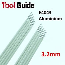 10 Rods Aluminium E4043 ARC Welding Electrodes DC 3.2mm Rod Stick Sticks