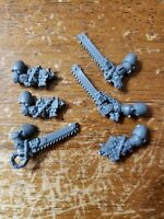 Warhammer 40k Space Marine Bits:Black Templar Engraved Chain Sword Bolt Pistols