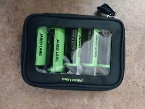 Jared Lang Travel Kit Hair Gel, Body Wash, Shave Cream, Body Spray + Bag NEW!