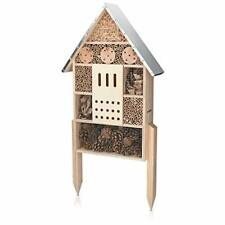 """Insect House with Stakes - Extra Large Wooden Bug Hotel 22.4"""" H x 15"""" W -"""