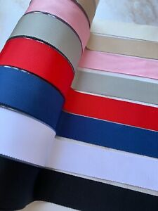 French Petersham Millinery Grosgrain Ribbon Hat 25mm 38mm wide - by the metre