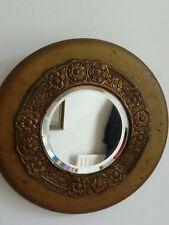 Antique  french Victorian round convex gold mirror