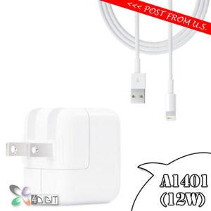 Original Genuine Apple iPad Air 2 Air2 AC WALL CHARGER USB Charging Data Cable
