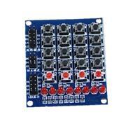 4x4 Matrix Array Keyboard 16 Key Switch Keypad 8 LED 4 Button For Arduino