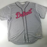 Detroit Tigers Majestic Cool Base 2017 Mother's Day Jersey Men's Pink Grey BCA