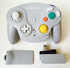GameCube Official Grey Gray Wavebird Controller + Receiver *Cleaned* *Tested*