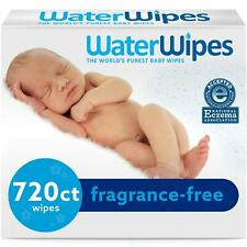 WaterWipes Sensitive Baby Wipes, Unscented, 720 Count (12 Packs of 60)