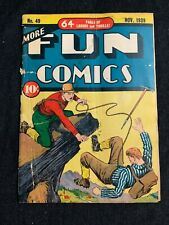 MORE FUN COMICS #49 Golden Age Cover November 1939 Pre Specter