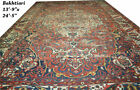 Antique  Palace Size 14' x 25' Worn Out Decorative Genuine Bakhtiari Rug CA 1920