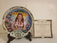 Knowles Wizard of Oz Musical Collector Plate The Lullabye League w Certificate
