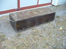 Old Antique Primitive Storage Tool Chest Box with Rope Handles Farm Barn KENNY