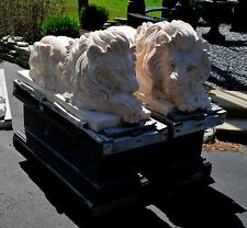 Hand Carved Marble Guardian Lions