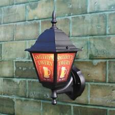 Personalised Pub Lantern, Home Bar illuminated sign, Outdoor Pub Light with logo